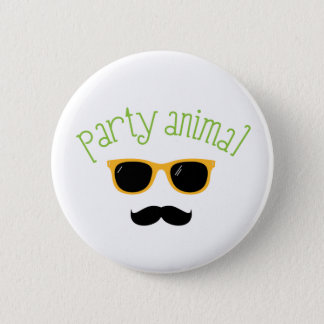 Party Animal 2 Inch Round Button