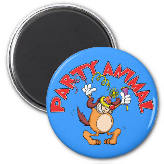 Party Animal 2 Inch Round Magnet