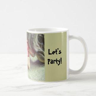 Party Animal Bearded Dragon Basic White Mug