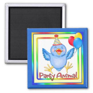 Party Animal Bluebird Fridge Magnet