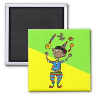 Party Animal Boy Square Magnet