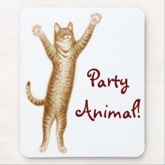 Party Animal Cat Mousepad