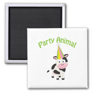 Party Animal cow Refrigerator Magnet