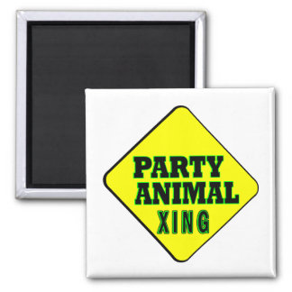 Party Animal Crossing Square Magnet