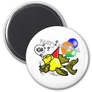 Party Animal Fish Fridge Magnet
