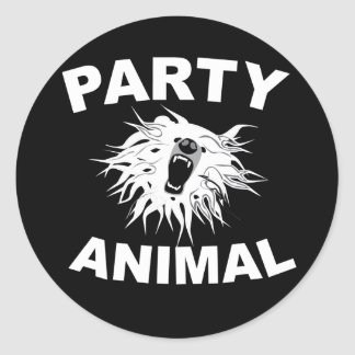 Party Animal. For people who like to have fun. Round Sticker
