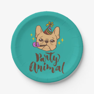 Party Animal - Hand Lettering Typography Design Paper Plate