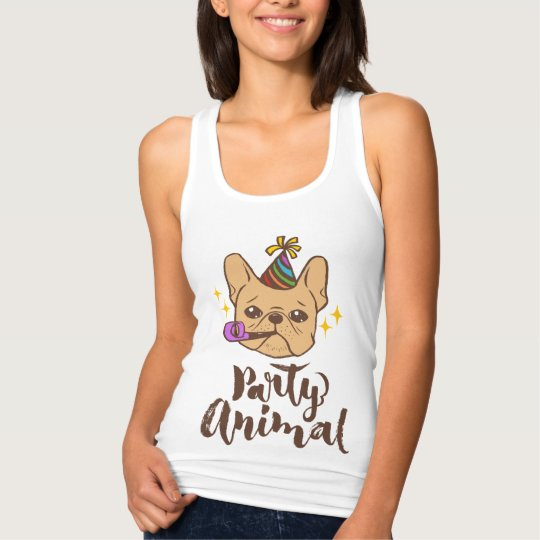Party Animal - Hand Lettering Typography Design Tank Top