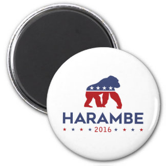 Party Animal Harambe 2 Inch Round Magnet