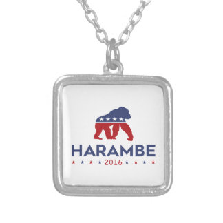 Party Animal Harambe Silver Plated Necklace