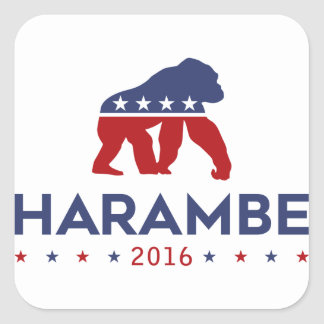 Party Animal Harambe Square Sticker
