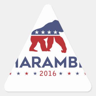 Party Animal Harambe Triangle Sticker