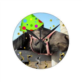 Party Animal Horse Clocks