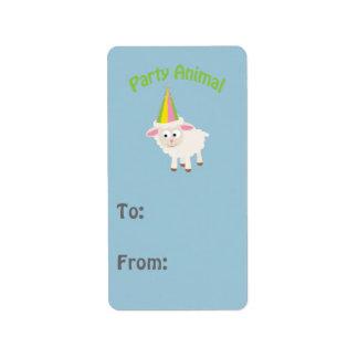 Party Animal! Lamb Address Label