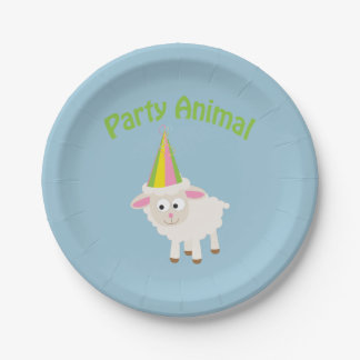 Party Animal! Lamb Paper Plate