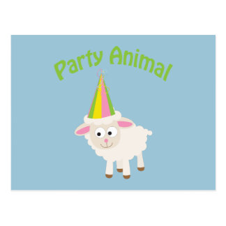 Party Animal! Lamb Postcard