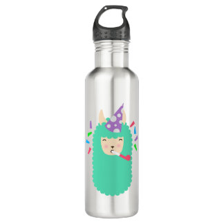 Party Animal Llama Emoji 710 Ml Water Bottle