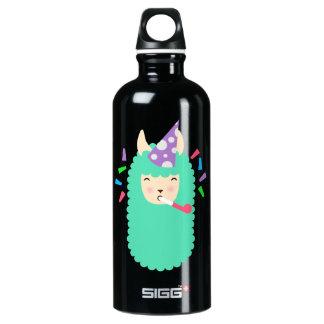 Party Animal Llama Emoji Water Bottle