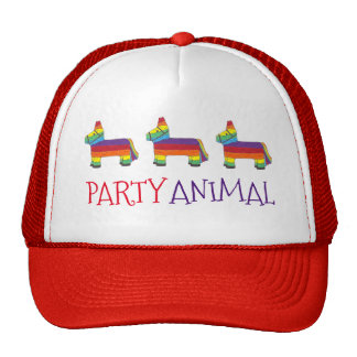 Party ANIMAL Rainbow Donkey Piñata Birthday Fiesta Trucker Hat