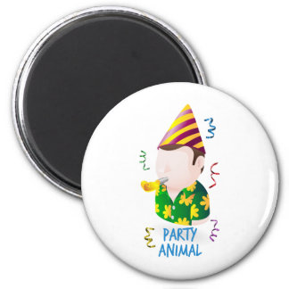 Party animal refrigerator magnet