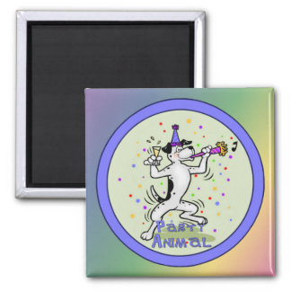Party Animal Square Magnet