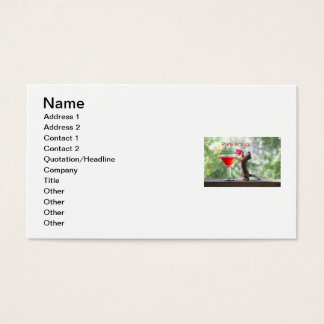 Party Animal Squirrel Business Card