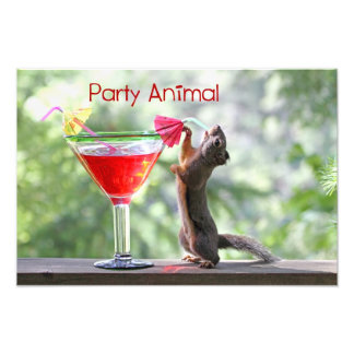 Party Animal Squirrel Photo Print