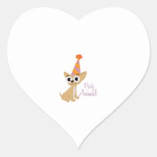Party Animal Heart Sticker
