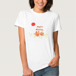 Party Animal t shirts Squirrel and balloon