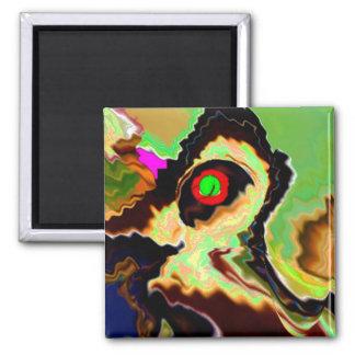 Party Animal V4 - Enjoy n Share the Joy Square Magnet