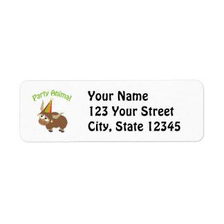 Party Animal! Yak Return Address Label