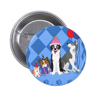 Party Animals 2 Inch Round Button