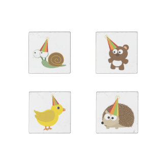 Party Animals Stone Magnets