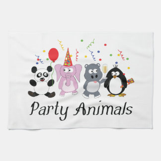 Party Animals Kitchen Towel