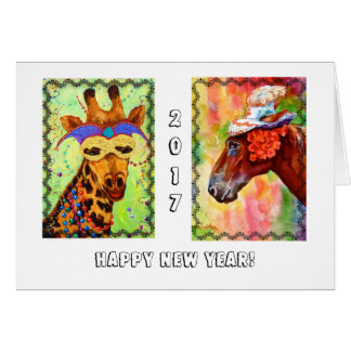Party Animals New Year Card