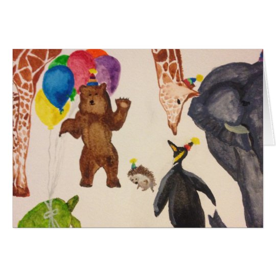 Party Animals Note Cards