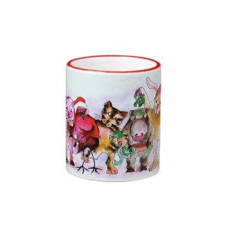 Party Animals-Original Art by SQ Streater Ringer Mug