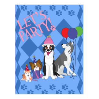 Party Animals Postcard