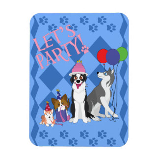 Party Animals Rectangle Magnet