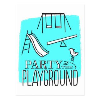 Party at the Park Postcard Invite - Aqua
