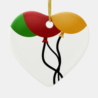 Party Balloons Ceramic Ornament