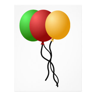 Party Balloons Letterhead