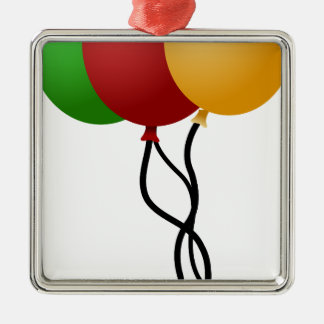 Party Balloons Metal Ornament