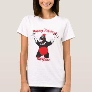 Party Bear in Santa Costume T-Shirt