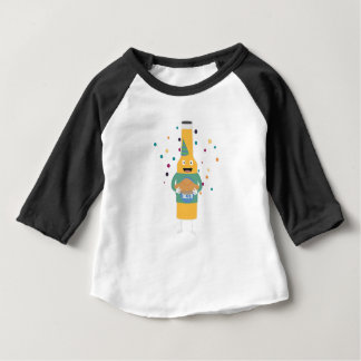 Party Beer Bottler with Cake Z4zzo Baby T-Shirt