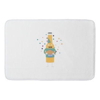 Party Beer Bottler with Cake Z4zzo Bath Mat