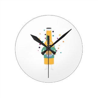 Party Beer Bottler with Cake Z4zzo Clocks