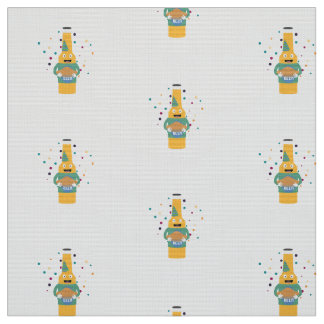 Party Beer Bottler with Cake Z4zzo Fabric