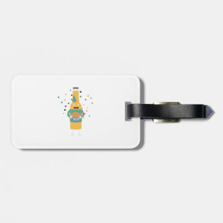 Party Beer Bottler with Cake Z4zzo Luggage Tag