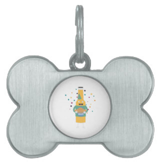 Party Beer Bottler with Cake Z4zzo Pet Name Tag